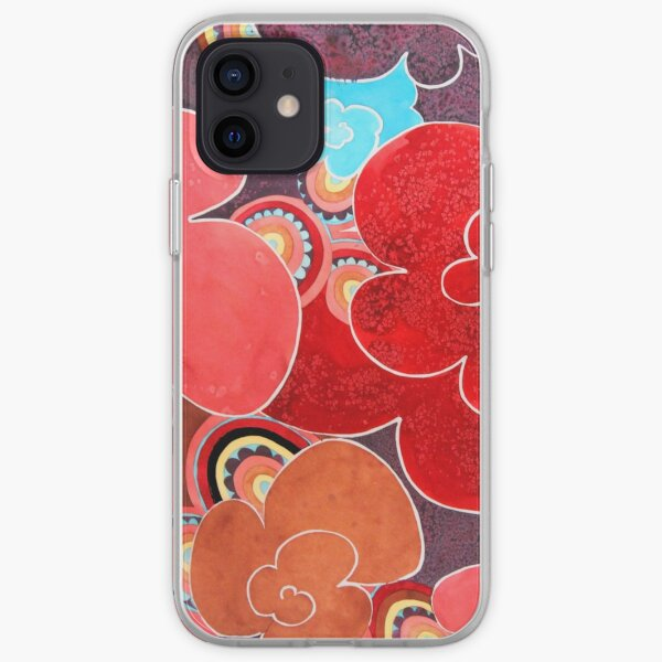 Flores abstractas Funda blanda para iPhone