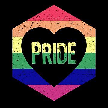 LGBT Pride Retro Hexagon by Sleazoid