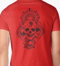 happy hippy skull Mens V-Neck T-Shirt