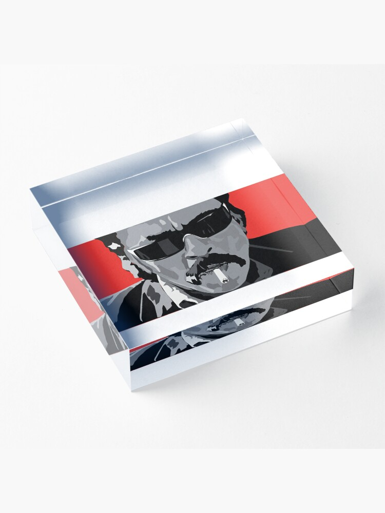 """Alternate view of Miguel """"Lado"""" Arroyo Acrylic Block"""