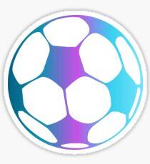 Purple and Blue Fade Soccer Ball Sticker