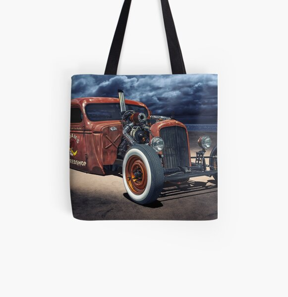 Vintage American Muscle Car All Over Print Tote Bag