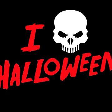 Halloween Lover Spooky Skull by machmigo