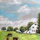 Farm Country - original rural farm landscape by LindaAppleArt