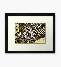 Pam's Fracture Framed Print