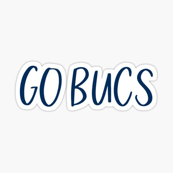 Go Bucs - Navy Blue Sticker