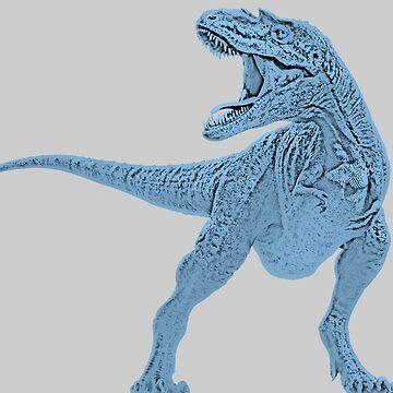Blue Dinosaur T-Rex Jurassic Paint Picture by oggi0