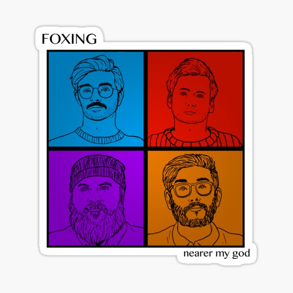 Foxing Nearer My God Sticker