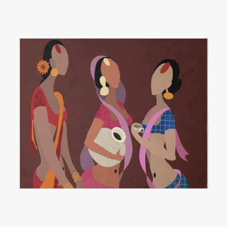 Three Indian Women  Art Board Print