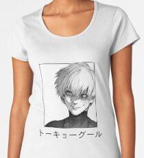 Camiseta premium de cuello ancho Ken Kaneki