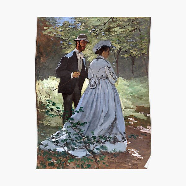 Claude Monet Bazille and Camille Poster