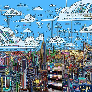 new york skyline panorama by BekimART
