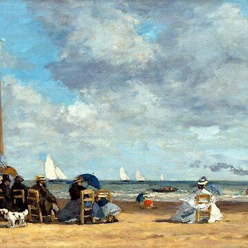 Eugène Louis Boudin Beach at Trouville by pdgraphics