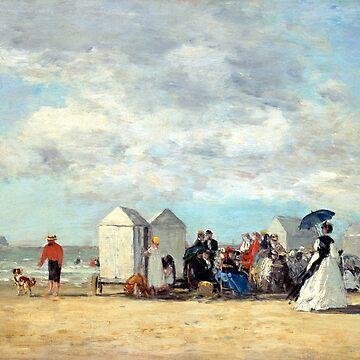 Eugène Louis Boudin Beach Scene by pdgraphics