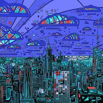 new york skyline panorama 2 by BekimART