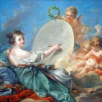 François Boucher Allegory of Painting by pdgraphics