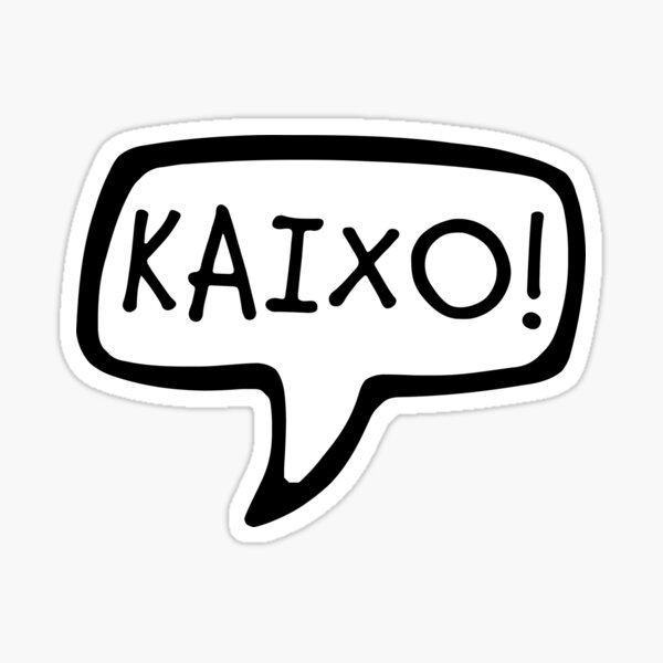 KAIXO! Basque Country, Basque Language for Hello, Hi, Greeting Sticker