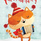 Christmas Song by Festive Cat by colonelle