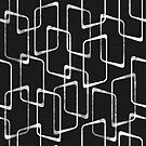 Retro Soft Black and White Geometric Pattern by itsjensworld