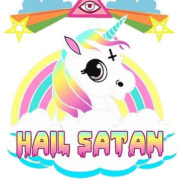 Unicorn Hail Satan Death Metal  by TPGraphic