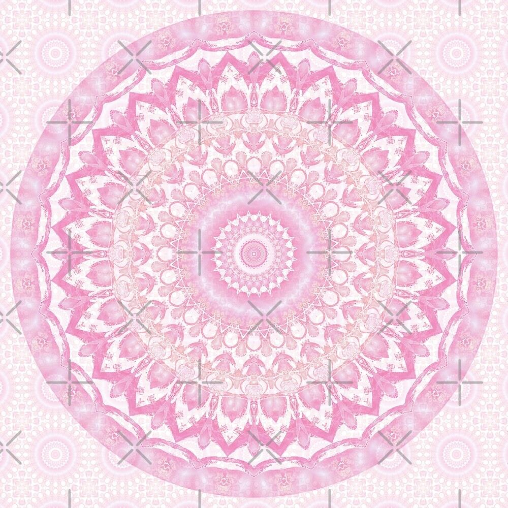 Frosted Pink Mandala by Kelly Dietrich