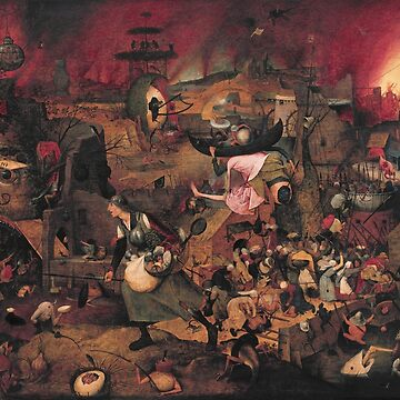 Mad Meg -  Pieter Bruegel de Oude - 1563 by billythekidtees