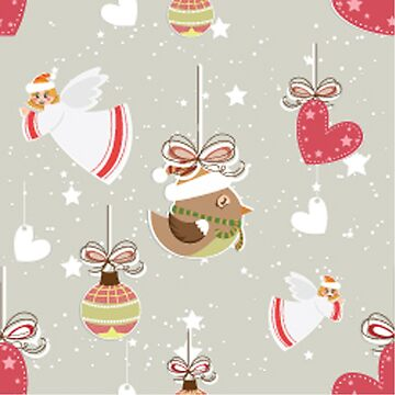 Christmas Elements Design Pattern 2 by Digitalbcon