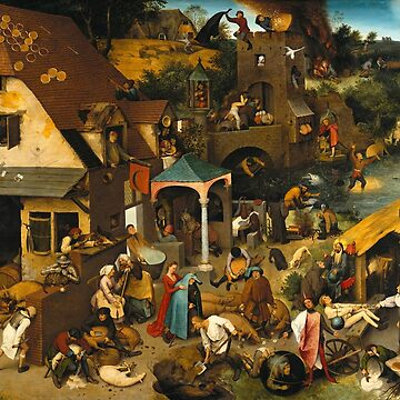 Dutch Proverbs - Pieter Bruegel the Elder - 1559 by billythekidtees