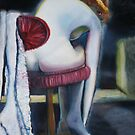 Figure on a stool by Linda Costello Hinchey