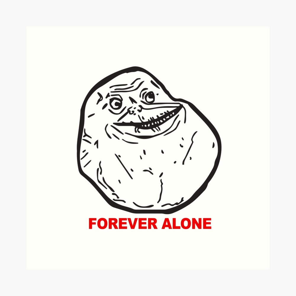 """Troll Face Forever Alone Red Text Internet Memes Reaction"