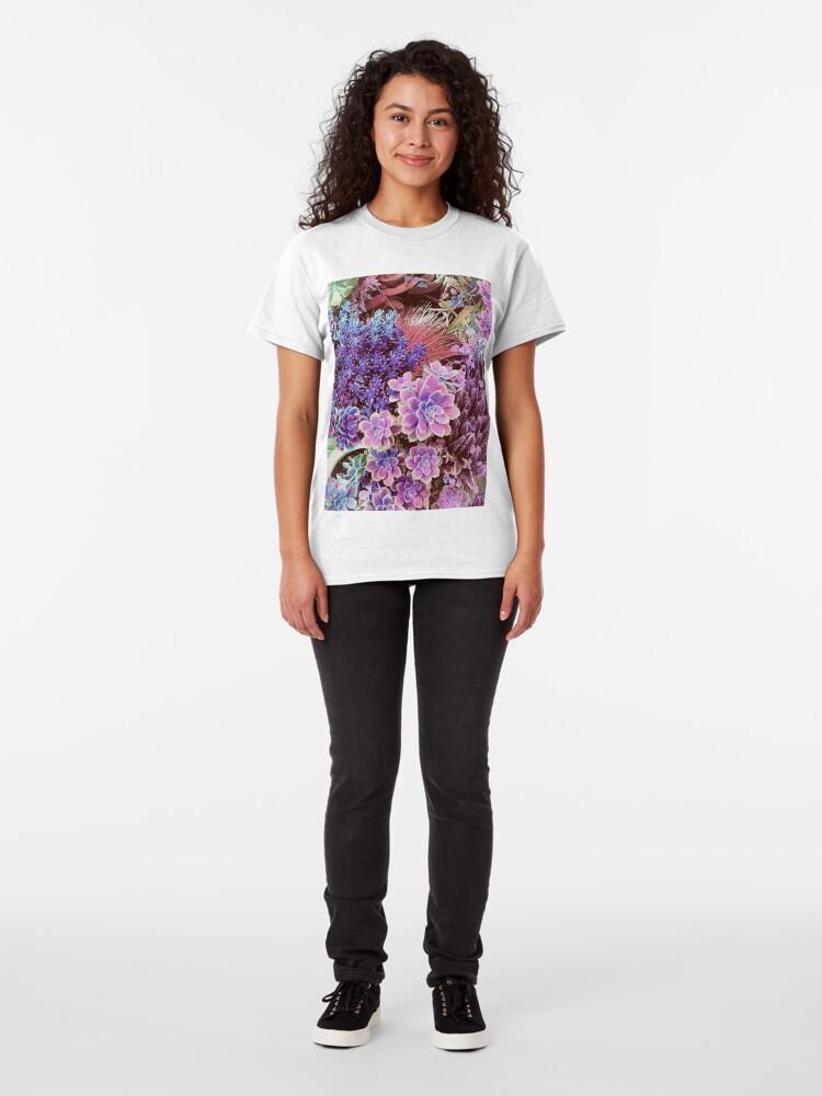 Alternate view of Succulent Garden View Classic T-Shirt