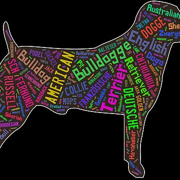 Cool dog design with dog breeds by jonres