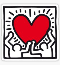 Keith Haring Heart Sticker