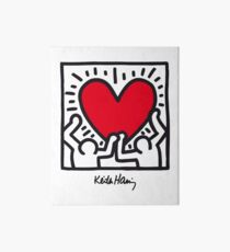 Keith Haring Heart Art Board