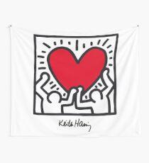 Keith Haring Heart Wall Tapestry
