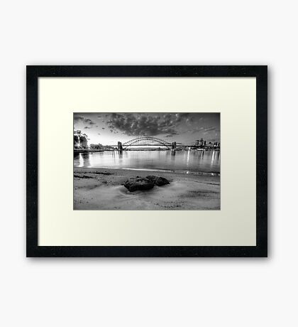 Exposed ( In Monochrome) - Moods Of A City - The HDR Experience Framed Print