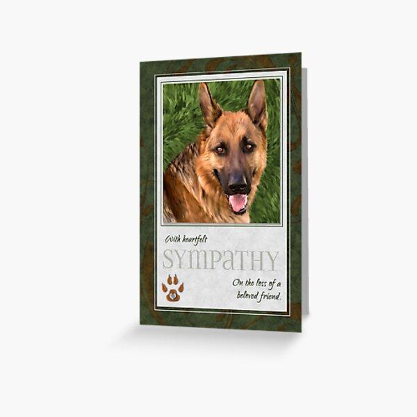 German Shepherd Pet Sympathy Loss of a Dog  Greeting Card