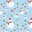 Christmas Elements Snowman Design Pattern by Digitalbcon