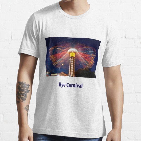 Hurricane ride at night, Rye foreshore carnival, January 2009 Essential T-Shirt