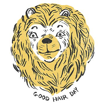 The Lion with the Golden Mane Proclaiming it a Good Hair Day by ImaginaryAnimal