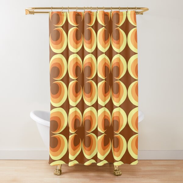 70's Retro 2 Starburst Shower Curtain