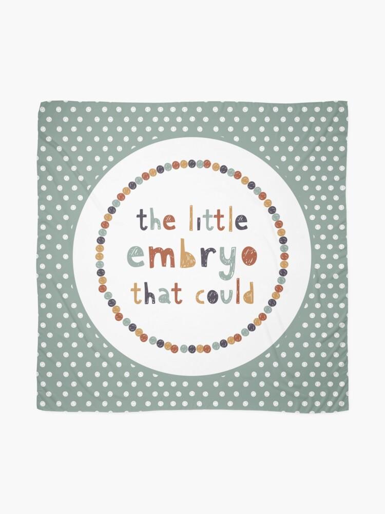 Alternative Ansicht von Der kleine Embryo, der das könnte Tuch