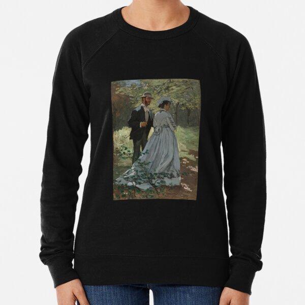 Monet - Bazille and Camille - Classic Art Lightweight Sweatshirt