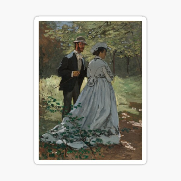 Monet - Bazille and Camille - Classic Art Sticker