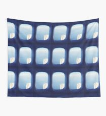 Plane wing in blue sky analogue 35mm film ra-4 darkroom photo Wall Tapestry
