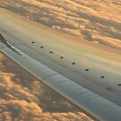 Airplane flying in sky wing in flight photo by edwardolive