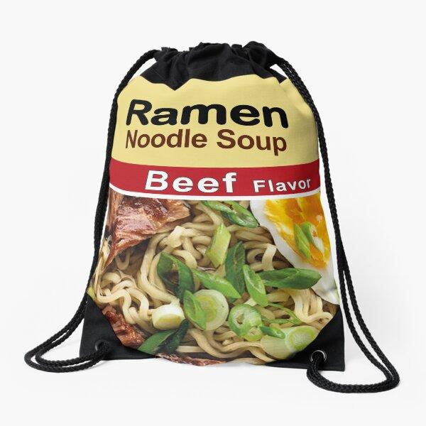 Sopa de fideos Ramen - sabor de carne Mochila saco