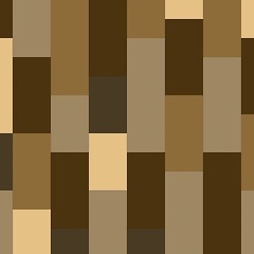 Abstract striped bars brown by Russell102