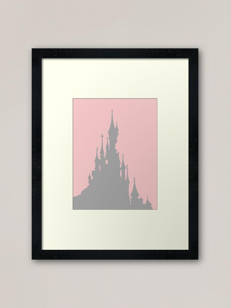 Magic Castle Silhouette Paris Millennial Pink Grey 2 Framed Art Print By Fandomtrading Redbubble