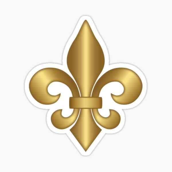 Gold Fleur-de-Lis Pattern Sticker